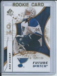 08/09 Ben Bishop SP Authentic Future Watch Limited RC  59/100