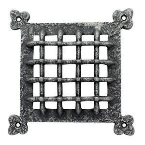 """Pewter Raised Grill Air Ventilator Cover Grill 6.5"""" x 6.5"""""""