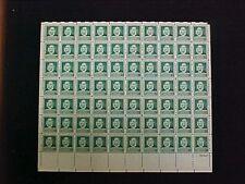 U.S: #874 1¢ FAMOUS AMERICAN JOHN JAMES AUDUBON MINT SHEET/70 NH OG