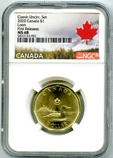 2020 CANADA $1 CLASSIC LOON NGC MS68 FIRST RELEASES UNCIRCULATED LOONIE POP10