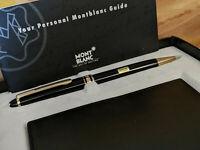 MONTBLANC Meisterstuck 164 Ballpoint Pen + Leather Business Card Holder, NOS!