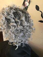 Human Hair Blend Ombré Gray Wig