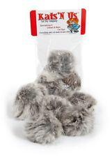 Real Rabbit Fur Pom Pom Cat Toy - 10 Pak