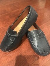 Youth Venettini Leather Slip On Loafers Size Toddler Us 13 Eu 31 Blue