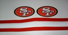 SAN FRANCISCO 49ERS FULL SIZE FOOTBALL DECALS