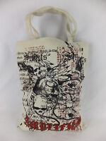 AMPLIFIED Canvas Shopper Tasche - beige schwarz rot - neu mit Etikett - bag