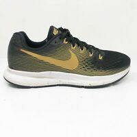 Nike Womens Air Zoom Pegasus 34 880560-009 Black Gold Running Shoes Size 9.5