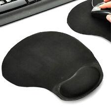 Antideslizante alfombrilla de ratón Pad De Espuma De Muñequera Pc Y Laptop Negro