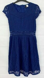 H&M DIVIDED Womens Navy Blue Party Dress Size 10