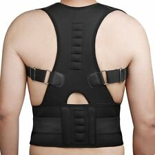 US Magnetic Therapy Posture Corrector Support Back Shoulder Brace Belt Men Women