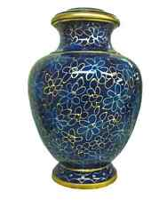New Quality Cloisonne Cremation Urn Wildflower for Adult Ashes 210 Cubic Inches