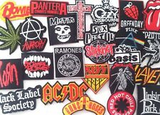 RANDOM Lot of 10 Iron On Patch Sew Wholesale Music Band Metal Punk Rock n Roll