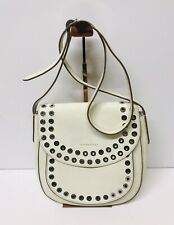 FRYE CASSIDY STUDDED SADDLE BAG CROSSBODY WHITE