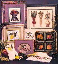 Cross My Heart SUMMER HARVEST 11 Cross Stitch Charts/Booklet ~ fruits / veggies