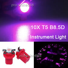 10X T5 B8.5D Pink Purple Dashboard Instrument Speed LED Light Bulb Lamp Replace