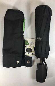 OUTDEW Teflon Travel Umbrella, BLACK Compact Folding Automatic Windproof NEW