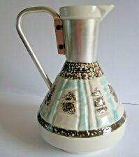 Vintage C Miller Pitcher Carafe Ceramic Pottery Mcm Mid Century Modern 1957