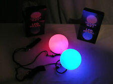LED Poi balls Pair - flow arts - Beginners - 6 modes, rave, light - STURDIER