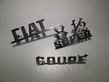 Coppia fregi scritte Fiat 850 super, Coupè  [3038.17]