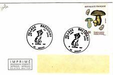 X381  enveloppe thème CHIEN 10ème foire aux chiens VILLAGE BRESSIGNY ANGERS 1987