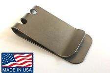 TITANIUM money clip natural. turbine jet engine Aircraft Titanium
