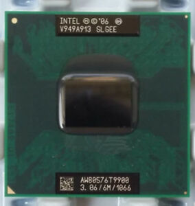 Intel Core2 T9900 3.06Ghz 6m 1066Mhz SLGEE AW80576GH0836MG  mobile cpu
