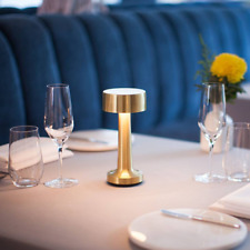 LED table night light Mini gold restaurant touch dimmer table lamp for hotel/bar