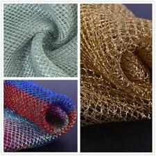 Fabric Crafts Gold Metallic Net Sparkle Glitter Skirt Mesh Tulle Dress Per Yard