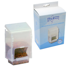 Economy Feeder Dispenser Bird Cage Seed Water Food Clear Plastic Hood Cups
