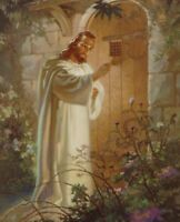 """Catholic print picture  -  JESUS KNOCKING 3  -   8"""" x 10"""" ready to be framed"""