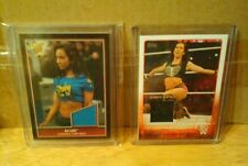WWE AJ LEE A.J. 2 CARD LOT 2015 TOPPS & 2013 BEST OF WWE AUTHENTIC SHIRT RELICS!