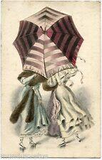 Carte à Système . Parapluie . Mode . Jolies femmes . Pretty women. Mechanical.