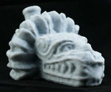 Aztec Quetzalcoatl Death Whistle Marble Stone Feathered Serpent God Made In Usa