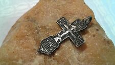"ANTIQUE STERLING SILVER SWORD-SHAPED ""CRUSADER'S"" CROSS PENDANT 15-17th CENTURY"