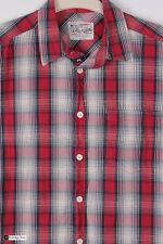 WRANGLER Hombre Manga Larga Corte Normal Camisa Informal Rojo Talla M CUADROS