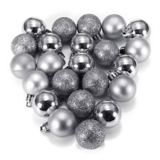24pcs Glitter Christmas Balls Baubles Tree Hanging Ornament Wedding Party Decor