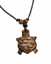 Collier pendentif tortue artisanat en corne de yak ethnique Tibet  A23 2036