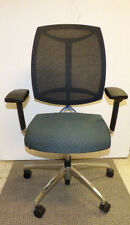 TEKNION VISIO TASK CHAIR BLUE FABRIC/ CHROME ACCENTS PRE-OWNED