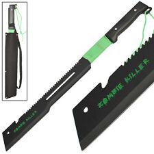 Zombie Killer Full Tang Offset Edge Serrated Hook CutterTactical Machete Sword