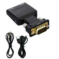 VGA to HDMI Adapter Converter with Audio Port for PC Laptop to HDTV Projector