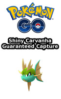 Pokemon Go ✨ SHINY Carvanha Capture 🔥 Pokémon Chromatique