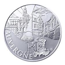 """Pièce de 10 euros des régions 2011 """" Auvergne """"."""