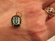 Green Beret Emblem etched intaglio pendant Special Forces Vintage U S Army