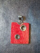 Sterling Silver 925 & Red Coral Pendant (P68)