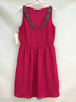 ZARA WOMENS BEADED PARTY DRESS SIZE MEDIUM