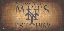 """New York Mets Throwback Retro Heritage Est 1962 Wood Sign 12"""" x 6"""" Wall Decor"""
