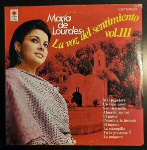 """Maria De Lourdes """"La Voz del Sentimiento, Vol III"""" Vinyl Record LP"""