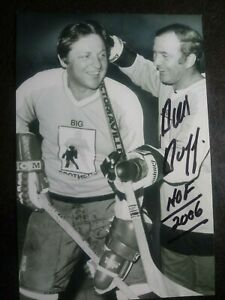 DICK DUFF Hand Signed Autograph 4X6 Photo - HOF HOCKEY - 6X STANLEY CUP CHAMPION
