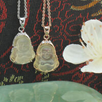 Rose Gold Filled or Silver Toned  Happy Buddha-Lucky Buddha Pendant/Necklace