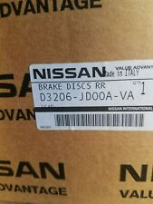 GENUINE NEW NISSAN JUKE QASHQAI PULSAR REAR BRAKE DISCS - 1 PAIR D3206 JD00A